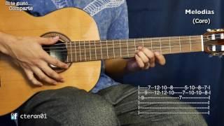 Al Jardin de la Republica - Los Chalchaleros Zamba Argentina Tutorial/como tocar Guitarra