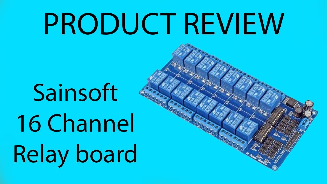 Sainsoft 16 channel 12 volt relay board Product Review YouTube