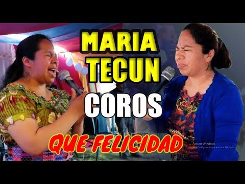 María Tecún Coros de Avivamiento Que Felicidad, Nuevo 2015, HD