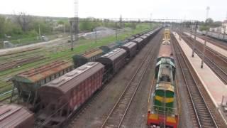 VLOG Поезда для детей. Товарный поезд. Электричка. Ж/д техника