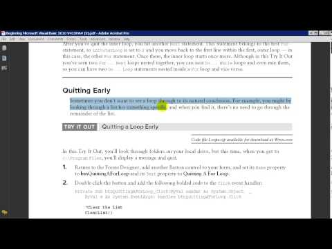 Programming Week 7 Part 6 Nested Loops and Exiting Loops