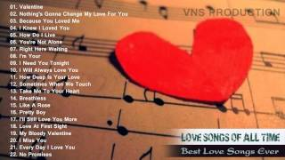 The Best Love Songs Of Valentine's Day 2015   Best English Love Songs Of All Time