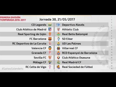 Calendario De La Liga Espanola De Futbol.Calendario Liga Espanola Primera Division 2016 2017