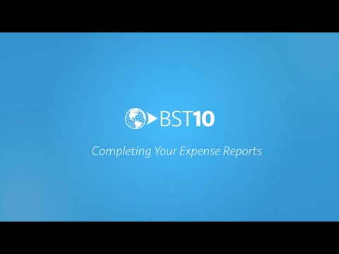 Completing Your Expense Reports with BST10