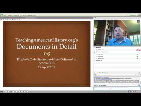 Documents in Detail: Elizabeth Cady Stanton's Address Delivered at Seneca Falls