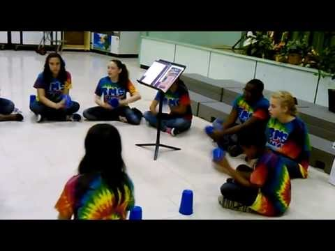 The cup song cover by Brenham Middle School choir in Brenham, Tx