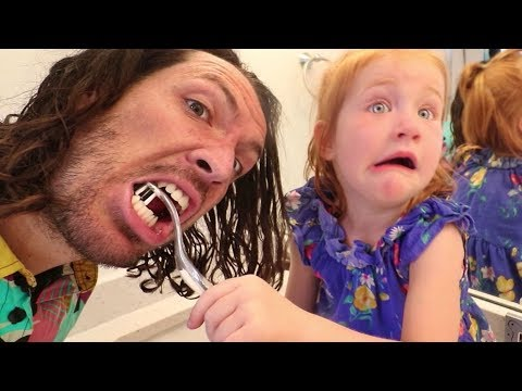 ADLEY GETS ME READY!! Family Morning Routine, Vampire Teeth, and a Beach Day!!