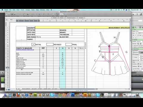 Fashion Specification Sheet Youtube