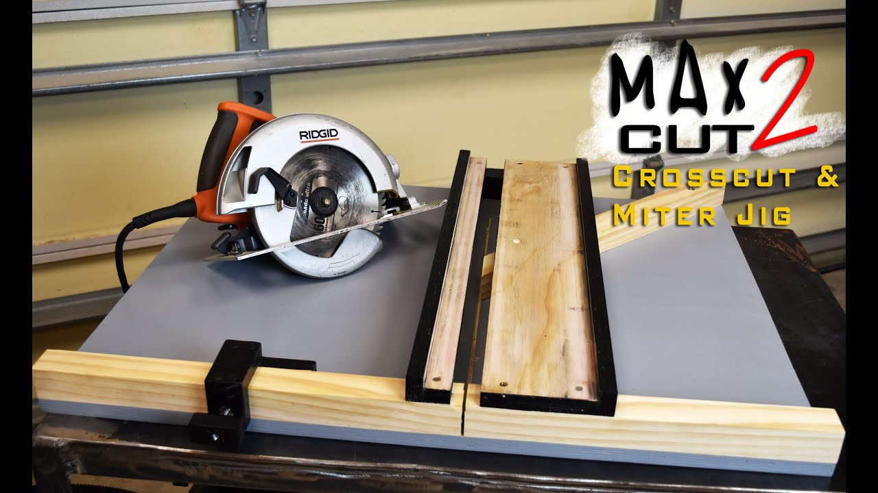 Making Circular Saw Crosscut Miter Jig The Max Cut 2