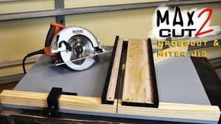 Making Circular Saw Crosscut & Miter Jig The MAX CUT 2  | Limited Tools Episode 003 thumbnail