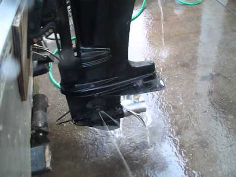 Mercury Outboard Running 10-23-14, Fuel Pump Diaphragm Replacement