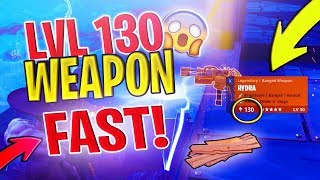 How to get a LVL 130 Weapon *FAST* | Fortnite Save The World