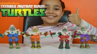 Turtles Dimension X Figures Sent to SPACE! Kids Toy Review