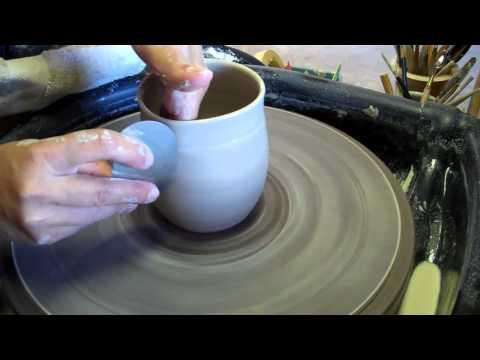 Ceramic Cup #175 - Clay Thrown on the Pottery Wheel