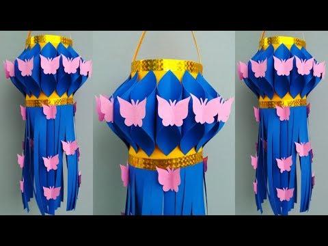 Diwali Akash kandil Making At Home | Diwali/Christmas Decoration Ideas | Easy Akash kandil