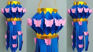 Diwali Akash kandil Making At Home   Diwali/Christmas Decoration Ideas   Easy Akash kandil