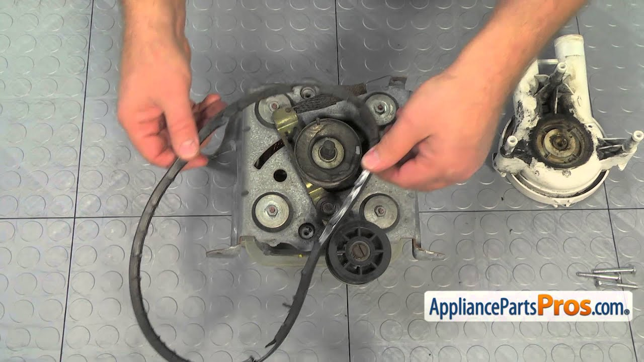 hight resolution of washer drive belt part wp27001007 how to replace ge dryer belt diagram 1990