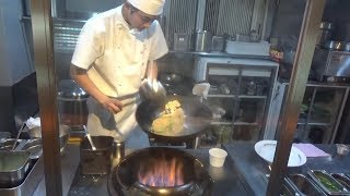 Japanese Street Food - How to make fried rice in Shibuya