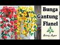 Cara Membuat Bunga Gantung dari Kain Flanel dengan Mudah dan Sederhana
