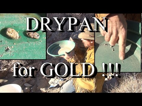 HOW TO DRY PAN !!!! For Gold. New-Easy Method. ask Jeff Williams