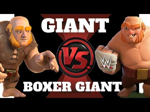 Giants Vs Boxer Giants FIGHT UNEXPECTED RESULTS   FIRST TIME In Clash Of Clans  