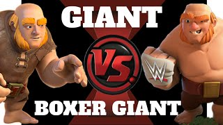 Giants Vs Boxer Giants FIGHT UNEXPECTED RESULTS | FIRST TIME in clash of clans |