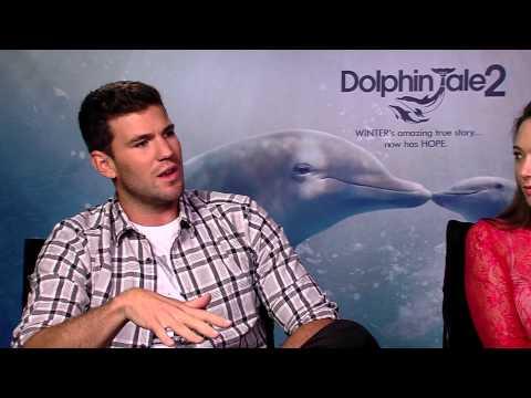 Austin Stowell and  Austin Highsmith    Dolphin Tale 2