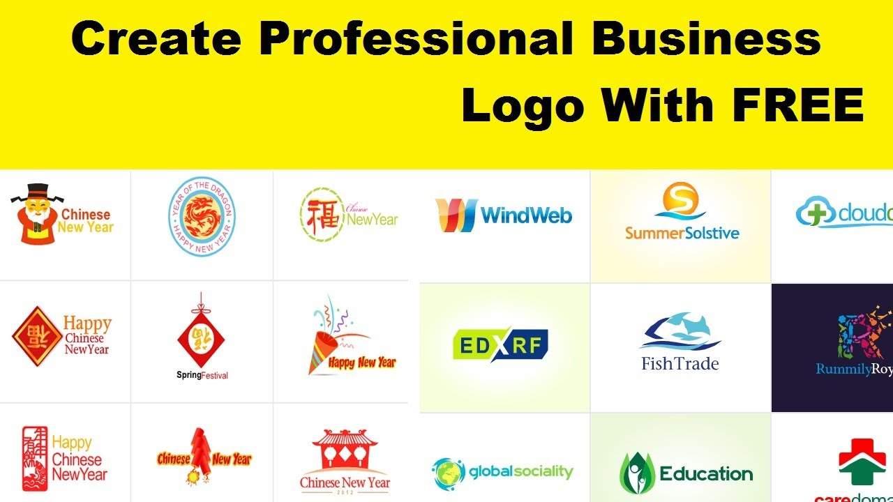 Create professional business logo with free l logo making for Create software online