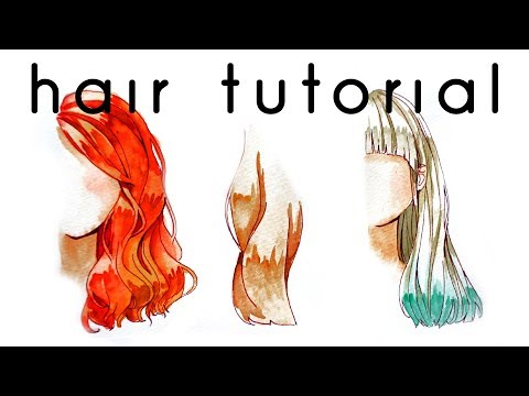 Hair Watercolor Coloring Tutorial