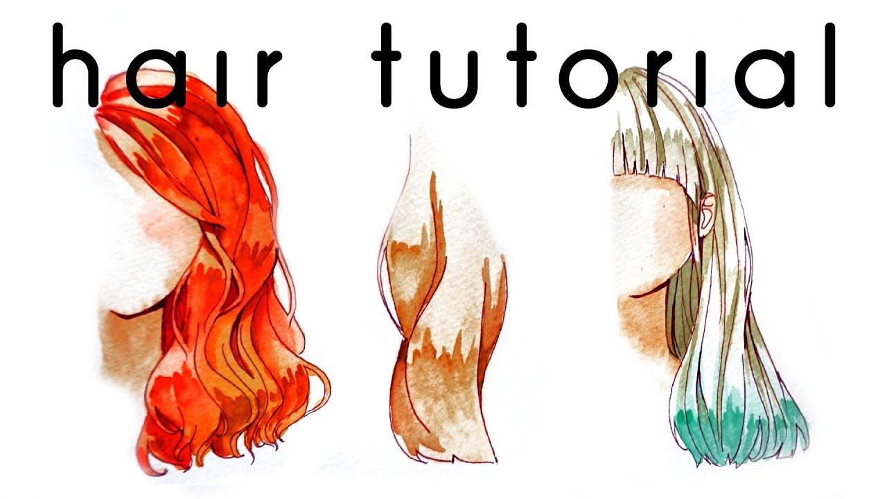 Hair Watercolor Coloring Tutorial - YouTube