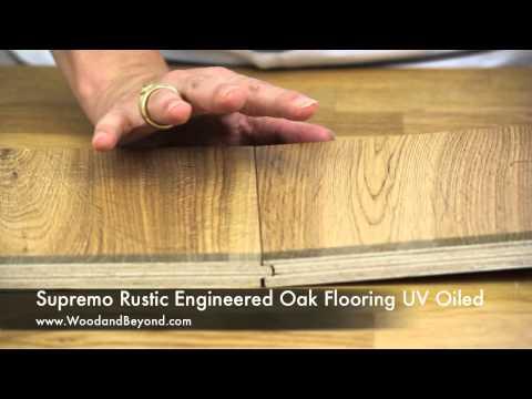 Supremo Rustic Engineered Oak Flooring UV Oiled