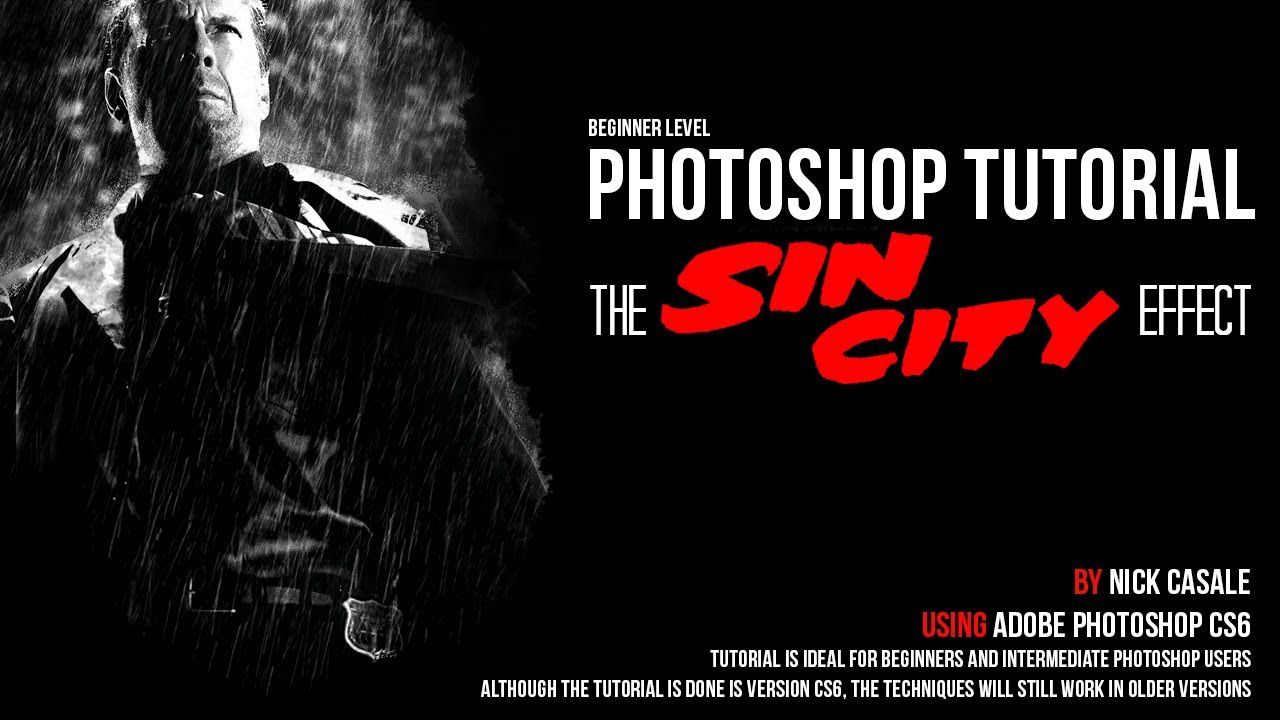 How to Make a Sin City Portrait in Photoshop (Part 2 ...