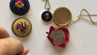 Embroidered jewelry tutorial