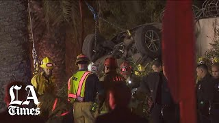 3 dead, 1 injured after LAPD pursuit ends in rollover crash in Echo Park
