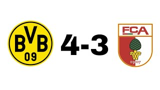 Dortmund 4-3 Augsburg 06.10.18