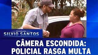 Câmera Escondida (10/07/16) - Policial rasga multa