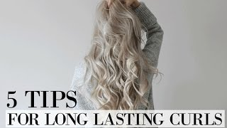 5 tips for LONGER LASTING CURLS | How to make curls last all day