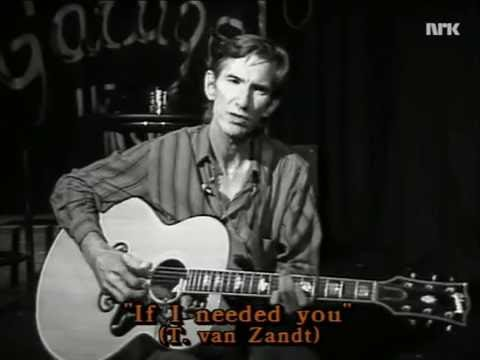 Townes Van Zandt, Interview about Doc Watson & If I Needed You (Oslo, N, 1992)
