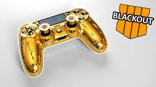 "The ""Gold Bullet"" PS4 Controller Unboxing + Black Ops 4 Blackout #1 Victory Solo Gameplay"