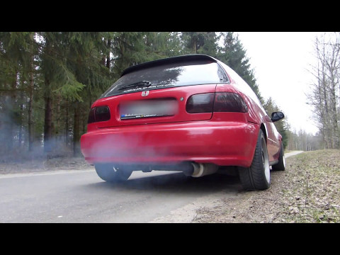 Honda Civic d15b2 Oil Smoke Sound