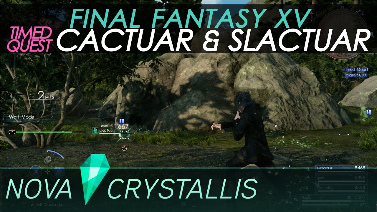ffxv cactuar timed quest how to finish it