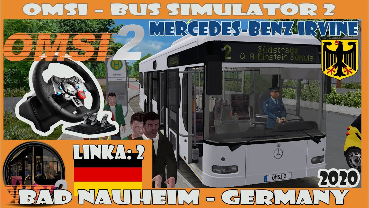 OMSI 2 (2020) - Bad Nauheim: 2 - (Mercedes-Benz Irvine Citaro) Logitech G29 (Germany)