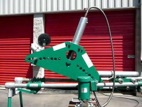 Greenlee 884 Conduit Bender Bending 3 Inch Rgc Youtube