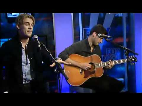 "Aaron Carter (with Alexis Babini) on F0X News performing ""Girlfriend"""
