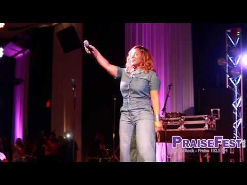 Erica Campbell at PraiseFest 2016 in Little Rock, AR