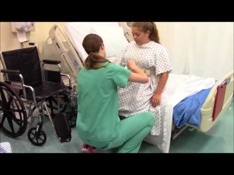 Transferring Patient From Bed To Chair Youtube