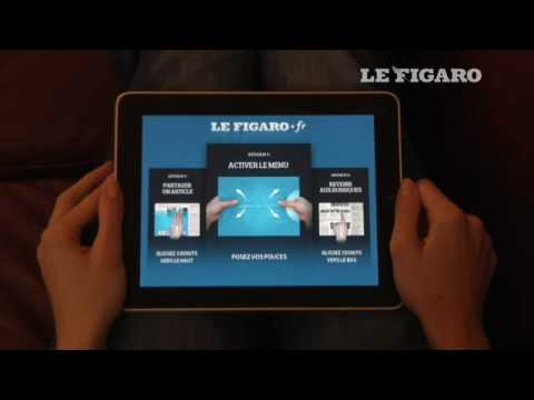 pr sentation de l 39 application du figaro sur l 39 ipad le figaro youtube. Black Bedroom Furniture Sets. Home Design Ideas