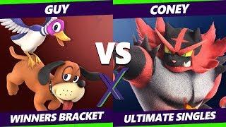 Smash Ultimate Tournament - Guy (Duck Hunt) Vs. Coney (Incineroar) - S@X 291 SSBU Winners Round 3