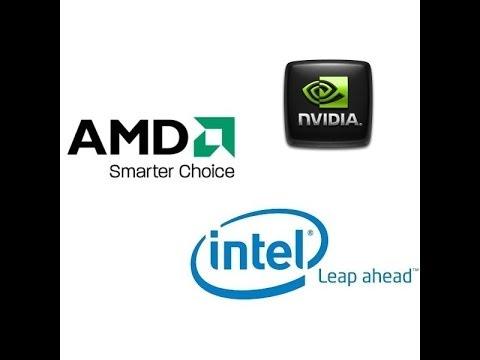Поиск и обновление драйверов для разных видеокарт (intel amd nvidia)