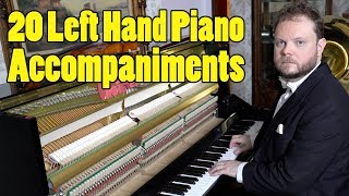 20 Left Hand Piano Accompaniments Ranked in Difficulty